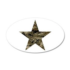 Star, distressed camo 22x14 Oval Wall Peel