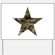 Star, distressed camo Yard Sign