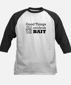 Good Things to Those who Bait Kids Baseball Jersey