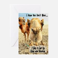 I Like to Get Up Close and Pe Greeting Card