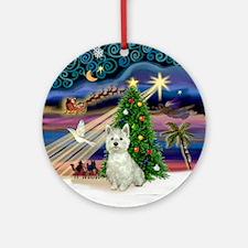 Xmas Magic Westie Ornament (Round)