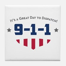 Cute Dispatcher by day Tile Coaster