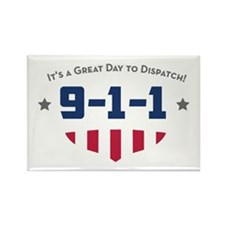 Cute 911 Rectangle Magnet (100 pack)