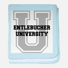 Entlebucher UNIVERSITY baby blanket