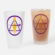 York Rite Cryptic Drinking Glass