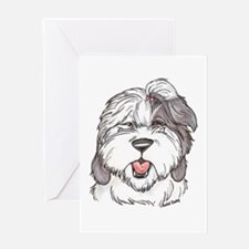 OE Sheepdog Greeting Card