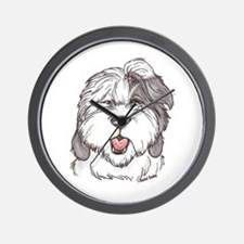 OE Sheepdog Wall Clock