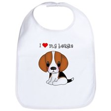 I Heart My Beagle Bib
