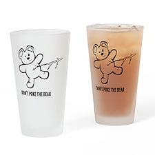 Don't Poke The Bear Drinking Glass