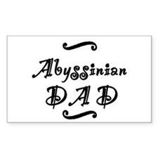 Abyssinian DAD Decal