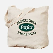 Cute Happy 65th birthday Tote Bag