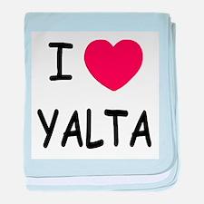 I heart yalta baby blanket