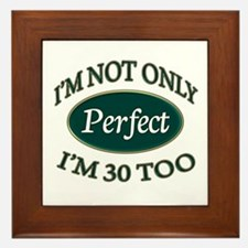 Unique Perfect birthday Framed Tile