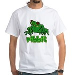 Green Ribbit Frog White T-Shirt