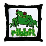 Ribbit Frog Throw Pillow