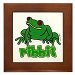 Ribbit Frog Framed Tile