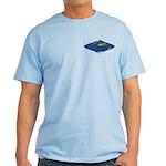 World Map Curved Rhombus: Light 2 T-Shirt