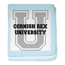 Cornish Rex UNIVERSITY baby blanket