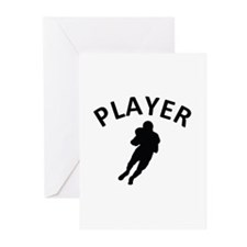 American Football Player Greeting Cards (Pk of 10)