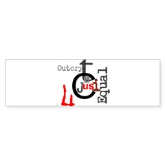 OYOOS Outcry 4 Justice design Bumper Sticker