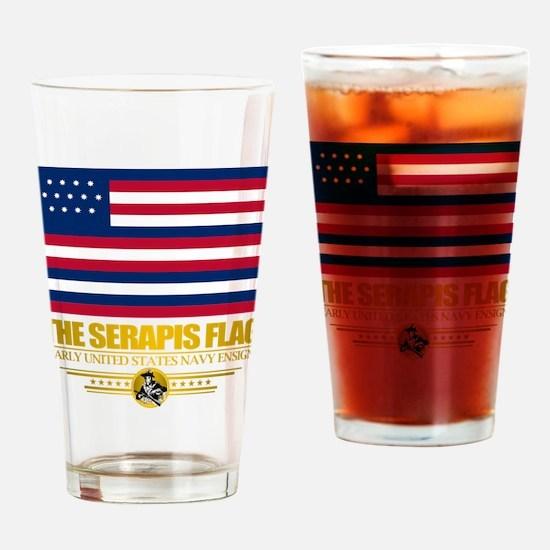 """Serapis Flag"" Drinking Glass"