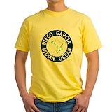 Diego garcia Mens Yellow T-shirts