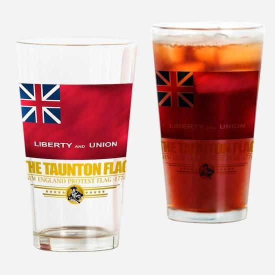 """Taunton Flag"" Drinking Glass"