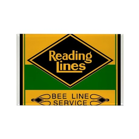 Reading Bee Lines Rectangle Magnet
