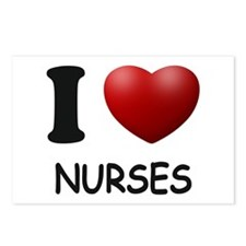 I Love Nurses Postcards (Package of 8)