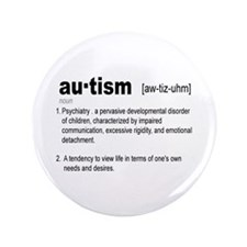 """Definition Of Autism 3.5"""" Button (100 pack)"""