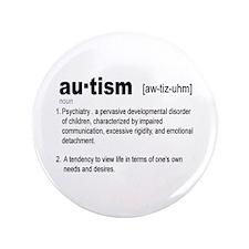 "Definition Of Autism 3.5"" Button"