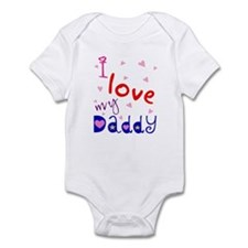 """""""I love my Daddy"""" Personalized Infant Creeper"""