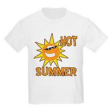 Hot Summer Sun Cartoon T-Shirt