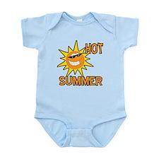 Hot Summer Sun Cartoon Infant Bodysuit