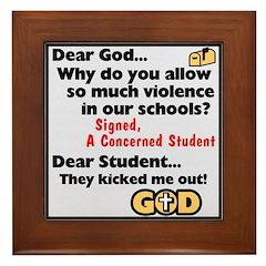 """""""Dear God"""" Framed Tile"""