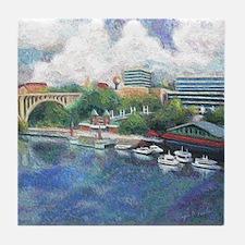 Knoxville Riverfront Tile Coaster