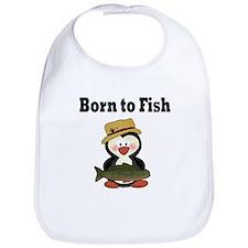 Penguin Born to Fish Bib
