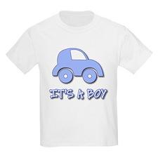 It's a Boy - Baby Boy - Blue Car T-Shirt