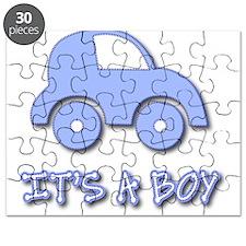 It's a Boy - Baby Boy - Blue Car Puzzle