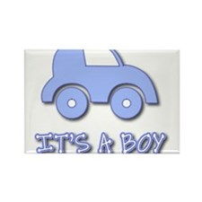 It's a Boy - Baby Boy - Blue Car Rectangle Magnet