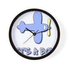 Its a Boy - Baby Boy - Blue A Wall Clock
