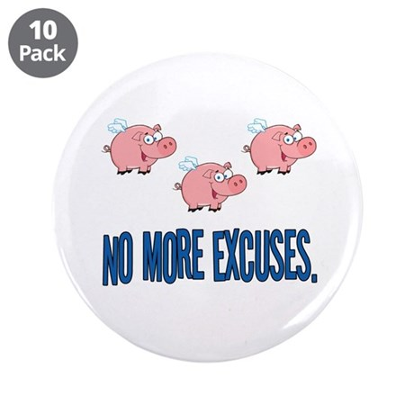 """When Pigs Fly 3.5"""" Button (10 pack)"""