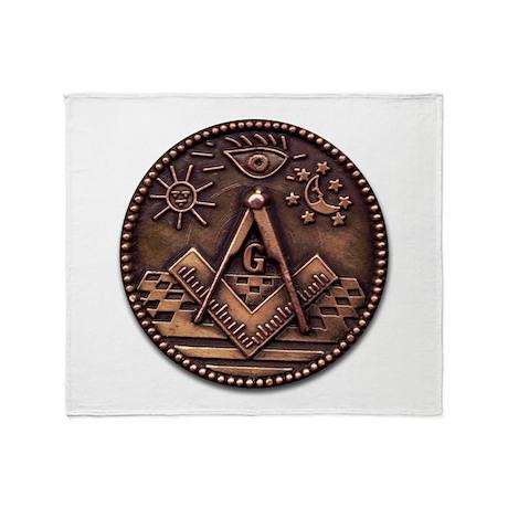 Bronze Freemasonry Throw Blanket