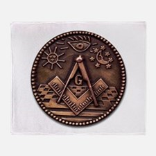 Bronze Freemasonry Throw Blanket