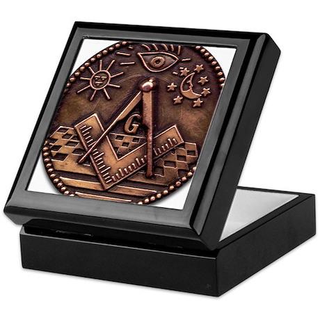 Bronze Freemasonry Keepsake Box