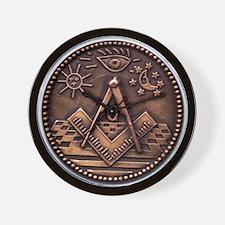 Bronze Freemasonry Wall Clock