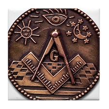 Bronze Freemasonry Tile Coaster