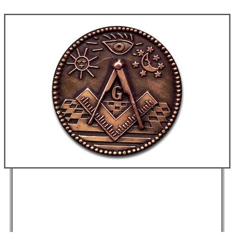 Bronze Freemasonry Yard Sign