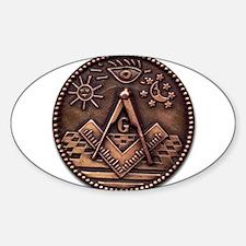 Bronze Freemasonry Decal