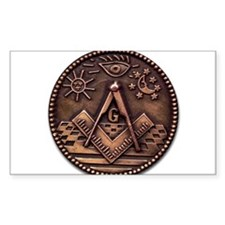Bronze Freemasonry Decal